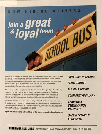 Looking for bus drivers!