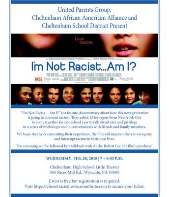 """UPG, CAAA Sponsor """"I'm Not Racist ... Am I?"""""""