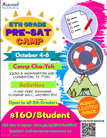 HURRY! LIMITED SPACE FOR PRE-SAT CAMP!