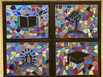 "Kuna Middle School students create ""stained glass"" window"