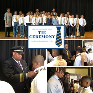 Leadership Academy Sixth Graders Earn Blue and Gold Ties