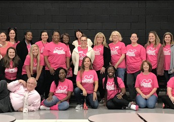 Our pink out was a great success.