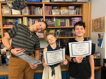 6th grade - Perfect Attendance - December 2018