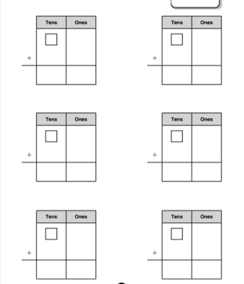 2-Digit Addition Template