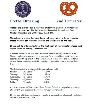 Pretzel Ordering - 2nd Trimester