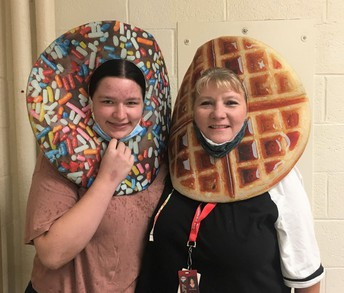 CHS Cafeteria Helper (Mia) for Maple with Staff Member Libby Savel
