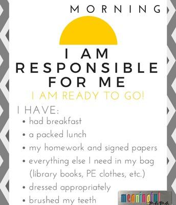 Soy responsable por mi.