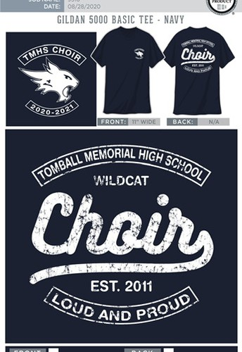 Choir T-Shirt Order