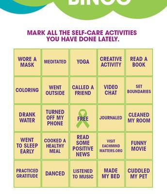 self-care bingo