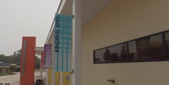 Check out our new Gunn Together banners on campus!