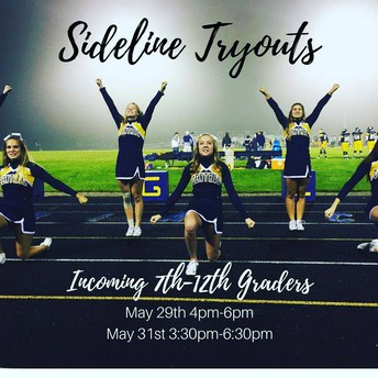 CCHS Sideline Cheer Tryouts