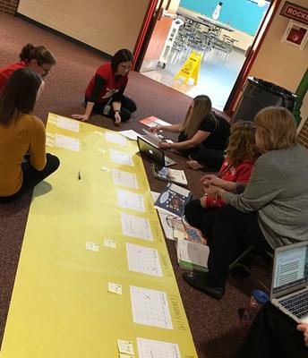 Curriculum Work with 2nd Grade Teachers at GPS!