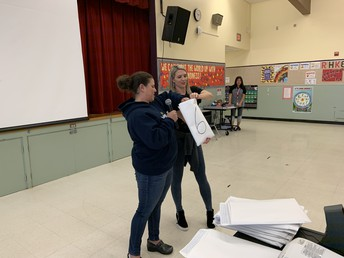 Parent Volunteers Drew Names for Lap-a-Thon Awards