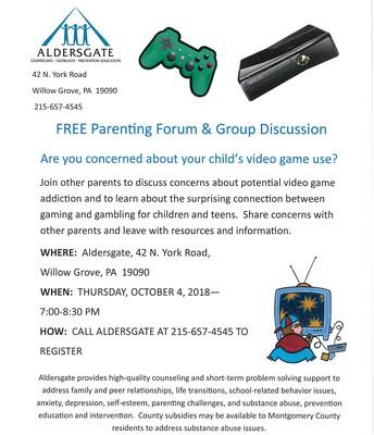 Aldersgate Free Parenting Forum & Group Discussion
