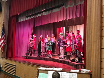 CES students performing at sing-a-long