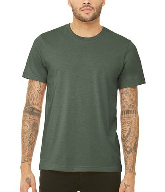 $15 SS Military Green Triblend Tee