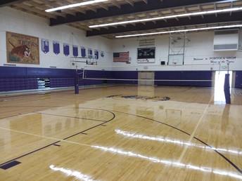 Gym Floor Refinished