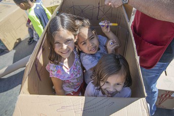 Creative Play in the Cardboard Playground