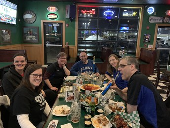 CYO Advisory Board members at a well-earned celebratory dinner