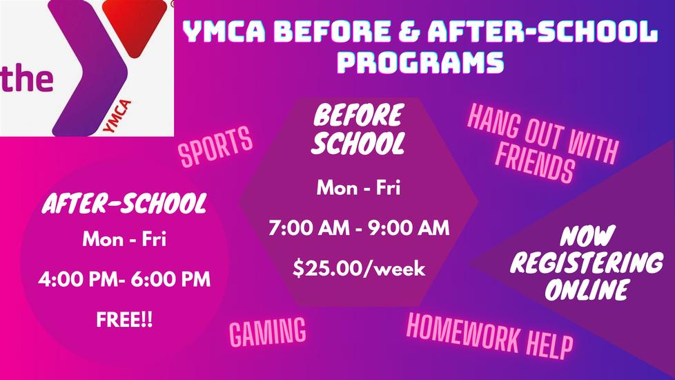 YMCA Registration Info. & link