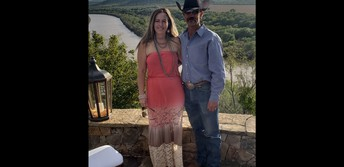 Jody and I enjoying a wedding next to the Brazos.
