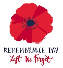 Remembrance Day Ceremony:  Nov 8th, 10:45