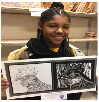 Congrats ...to all of the CMS kids who had work in the D200 Art Show!