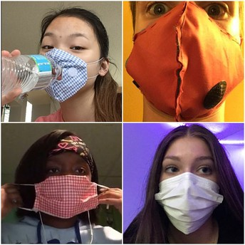 Students design face masks to address common problems