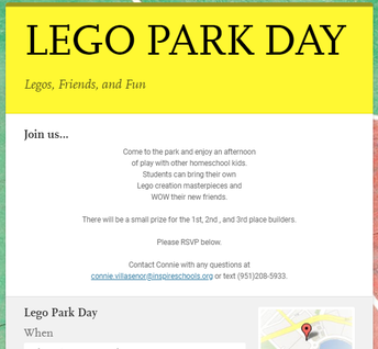 Lego Park Day!