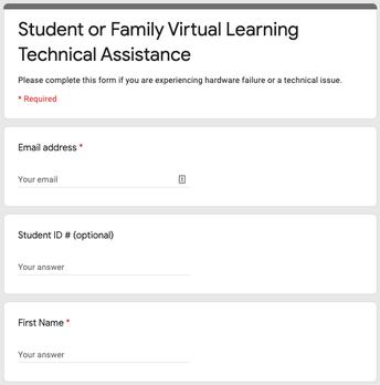 Tech Help Support Form