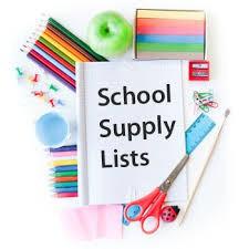 21/22 School Supply Lists