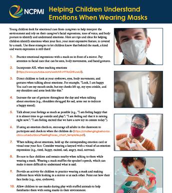 Helping Children Understand Emotions When Wearing Masks Guide