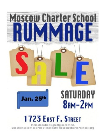 Rummage Sale - Saturday, January 25th