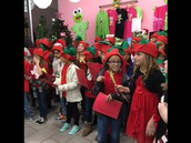 Honor Choir performs at Sweet Frog!