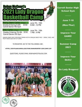 Lady Dragon Basketball Camp