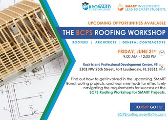 A picture of the invitation to the roofing workshop held on June 21, 2019