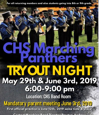 Try Out Night for CHS Marching Panthers