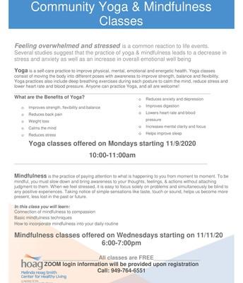 Community Yoga & Mindfulness Classes