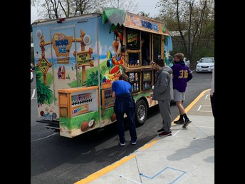 Kona Ice Visited Us During Lunch Periods on 4/23