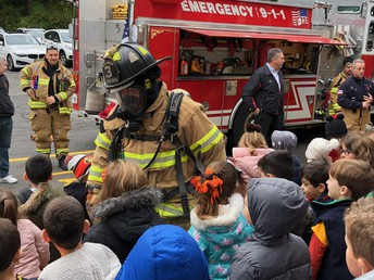 CGFD & St. Barnabas Fire Safety House Project Visits SE