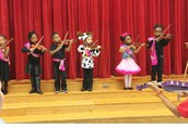Our Violinists and Drama Club