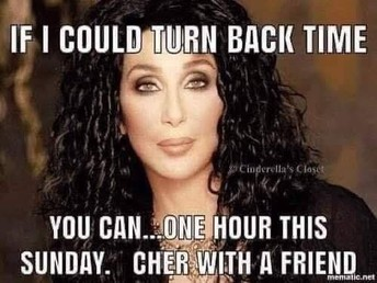 Remember to set your clocks back on Sunday!