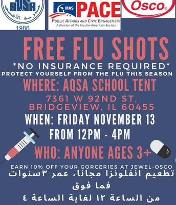 Aqsa School co-sponsors Free FLU SHOTS for the community