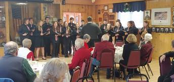Chorale singing for retired educators