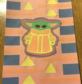 Mola Paper Art. Molas are based on Panamanian textile needle work where thread and fabric are layered.