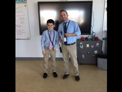 Connor Twinning with Mr. Curley
