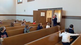 Mrs. Bott explains elements of the confessional