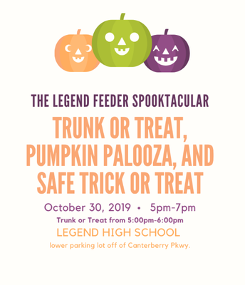Legend Trunk or Treat Info; 10/30 at 5:00