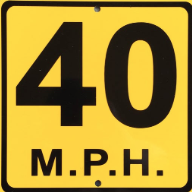 CAUTION: The speed limit is 40mph in front of the school on county road 23