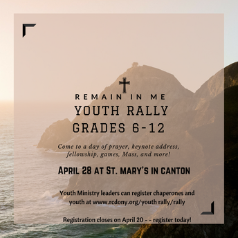 Youth Rally Registration Closes Soon!